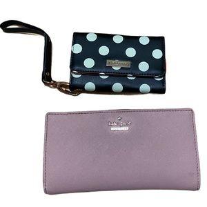 Lot of 2 Kate Spade Wallet